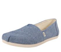 Slipper 'alpargata' dunkelblau / grau