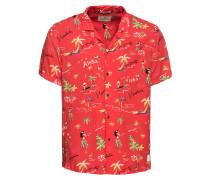 Hemd 'Hawaiian' mischfarben / rot