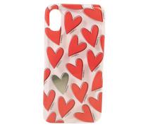 Smartphonehülle für das Apple iPhone 8 'Hearts Red'