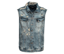 Jeansweste 'rasin' blue denim