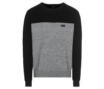 Pullover 'Auf Deck' grau / schwarz