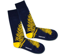 Socken 'Blue Fern' blau / gelb