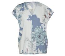 Bluse mit floralem Muster mischfarben