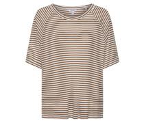 Shirts 'Delanie' braun / weiß