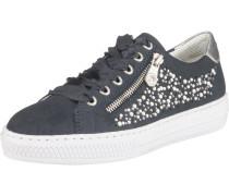 Sneaker taubenblau / silber