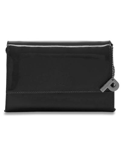 Auguri Damentasche Leder 19 cm schwarz