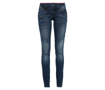 Mid Waist Jeans 'nena Biker' blue denim