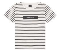 T-Shirt beige / schwarz