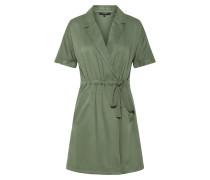 Kurzes Wickel Kleid grasgrün