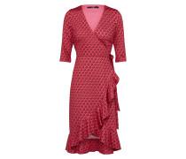 Kleid 'lilia' cranberry / schwarz