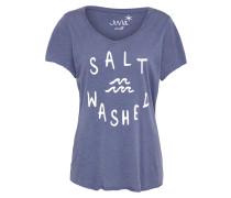 T-Shirt 'Salt Washed' navy