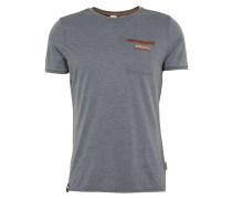 T-Shirt 'Suppenkasper' rauchblau / cognac