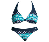 Bügel-Bikini elfenbein / blau