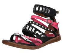 Sandale 'Ramos' pink / schwarz