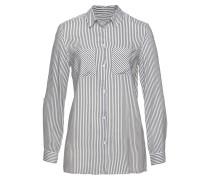Bluse dunkelgrau / weiß