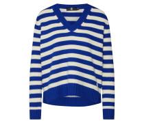 Pullover elfenbein / blau