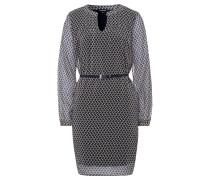 Kleid ecru / schwarz