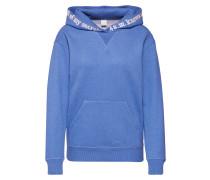 Hoodie 'Teknows' blau / weiß