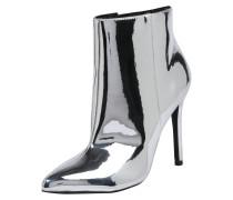 High Heel-Stiefelette silber
