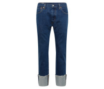 Jeans '501 Original Fit' blue denim / weiß