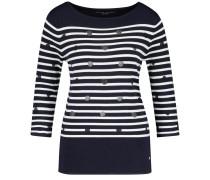 Pullover nachtblau / schwarz / weiß