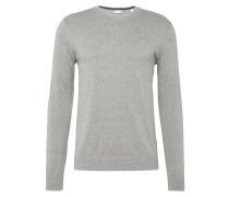 Pullover 'Basic CO V-nk' grau
