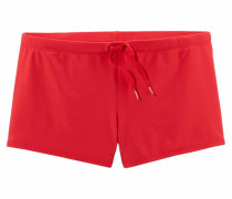 Boxerbadehose mit Außenkordel rot