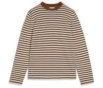 Pullover ' Laado Stripes ' braun