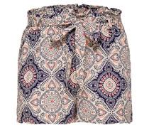 Print Shorts dunkelblau / hellrot / weiß