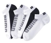 Sneakersocken graumeliert / schwarz / weiß
