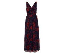 Kleid nachtblau / rot