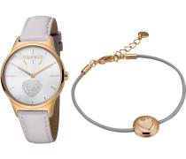 Uhr 'es1L026L0215' gold / hellgrau / silber
