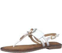 Zehentrenner Sandale weiß