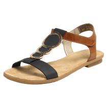 Sandale dunkelblau / braun