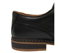 Schnürschuh aus Leder schwarz