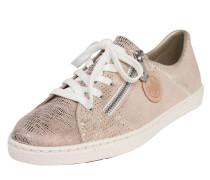Sneaker im Used-Look hellbeige / silber