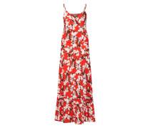 Kleid 'marrakech Dr3' rot / weiß