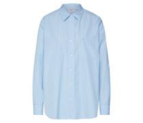Bluse 'the DAD Shirt W/ Pocket' weiß / blau