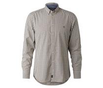 Hemd beige / taubenblau