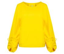 Sweatshirt 'Gina the Sweat' gelb / weiß