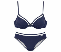 Bügel-Bikini navy / weiß