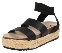 Sandale 'perla' schwarz