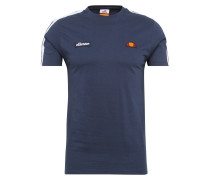 T-Shirt 'crotone' dunkelblau / weiß
