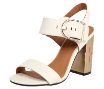 Sandalette gold / weiß