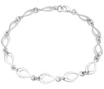 Armband 'Feder Oval' silber