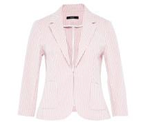 Gestreifter Baumwoll-Blazer rosa / weiß
