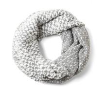 Schlauchschal grau / weiß