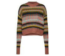 Pullover 'graphic Chunky' mischfarben / rot
