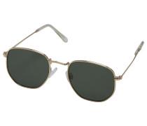 Sonnenbrille gold / grün