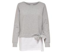 Detailreiches Sweatshirt grau / weiß